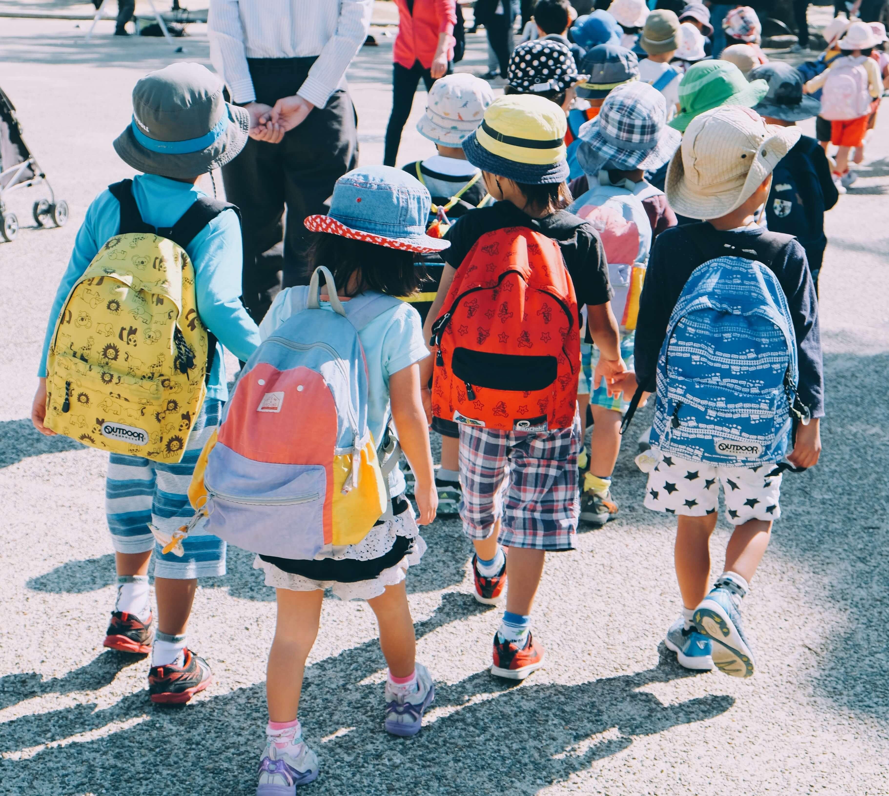 group of children walking away head start curriculum standards learning genie